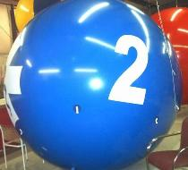 Giant advertising balloon - blue helium ball shape