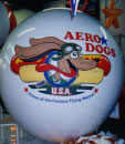 Advertising Balloon - Aero Dogs artwork. 7ft. balloons w/o artwork from $269.00. We manufacture our giant balloons in the USA from polyurethane not pvc. PVC is a known carcinogen and is being phased out worldwide.