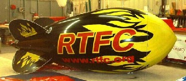 Advertising Blimps - 14ft. with flames - We can duplicate most artwork and logos.