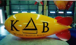 Advertising blimp - 11' blimp with medium complexity artwork - 11ft. advertising blimps w/o artwork - $461.00. We manufacture our advertising balloons and blimps in the USA.