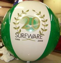 advertising balloon with custom logo - 8ft. in diameter helium balloon